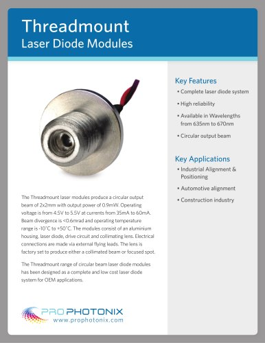 OEM Laser Threadmount Modules