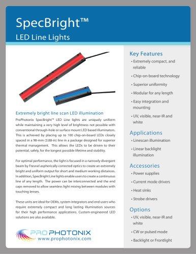 SpecBright? LED Line Lights