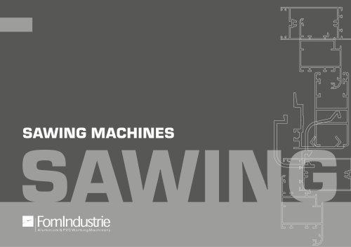 SAWING MACHINES ONE HEAD