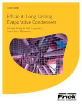 Efficient, Long Lasting Evaporative Condensers