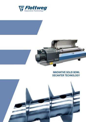 Solid bowl centrifuge technology