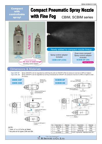 Compact pneumatic nozzle- CBIM series