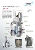 Mixer dryer and vacuum dryer Type VMT
