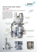 Vacuum-mixer dryer, Reactor