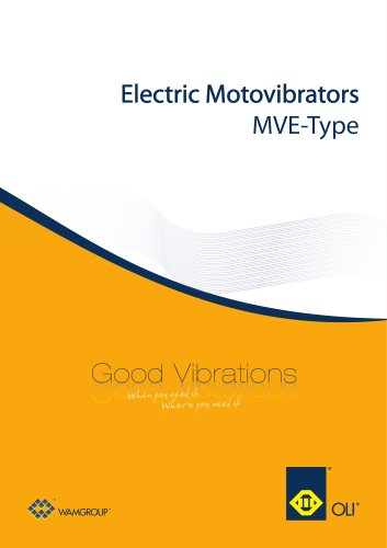 Electric Motovibrators MVE Brochure