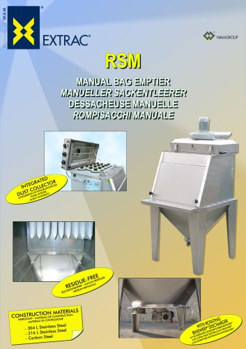 Manual Bag Emptier RSM Brochure