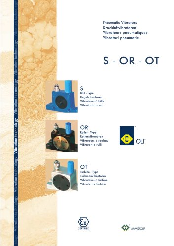 Pneumatic Vibrators S-OR-OT Brochure