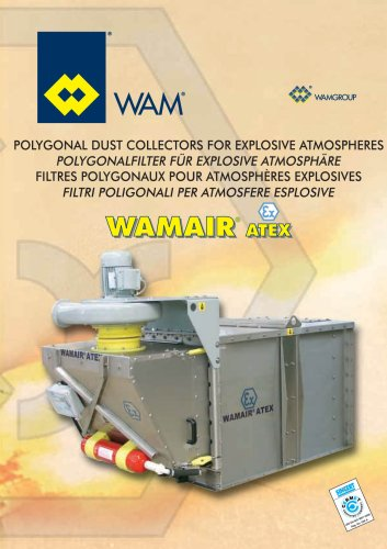 Polygonal Dust Collectors for explosive atmosperes WAMAIR ATEX Brochure