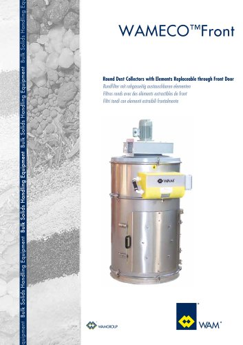 Round Dust Collectors with Elements Replaceable Through door WAMECO  TM FRONT Brochure