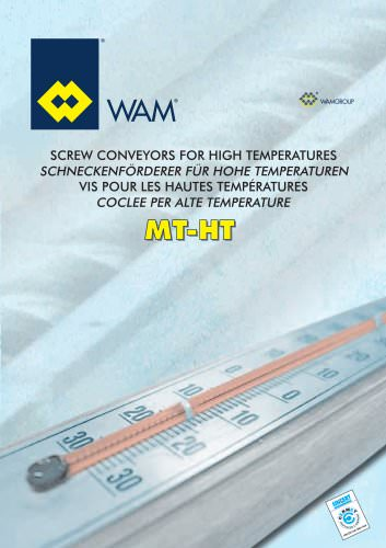 Screw conveyors for high temperatures MT-HT Brochure