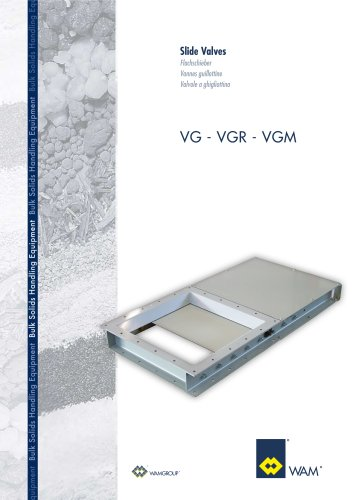 Slide Valves VG-VGR-VGM Brochure