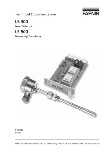 LS 300 Level Detector - LS 500 Measuring Transducer