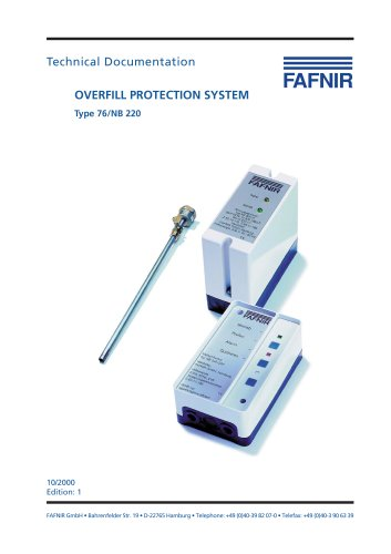 OVERFILL PROTECTION SYSTEM Type 76/NB 220