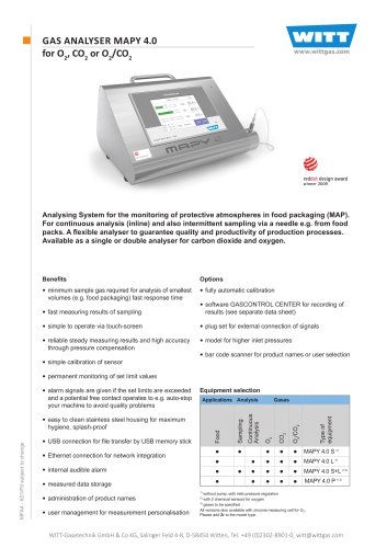GAS ANALYSER MAPY 4.0