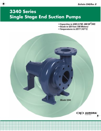 3340 Series Single Stage End Suction Pumps