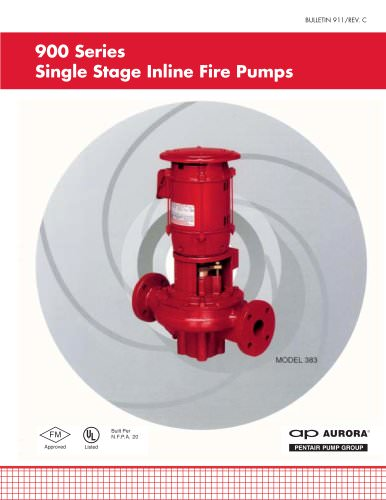 900 Series Single Stage Inline Fire Pumps