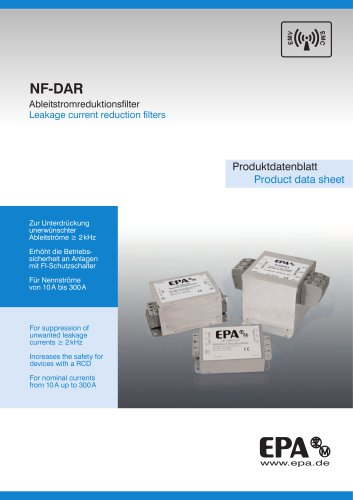 Leakage current reduction filters NF-DAR