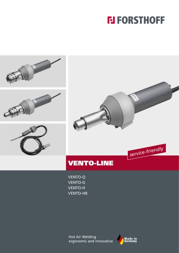 Brushless hot air welding tools Vento-Line