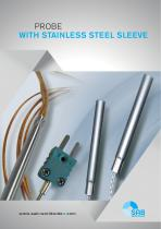 Probe with stainless steel sleeve