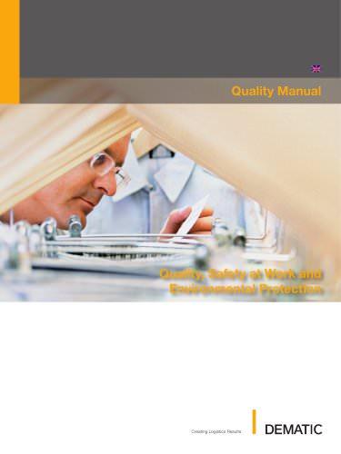 Dematic Quality Manual