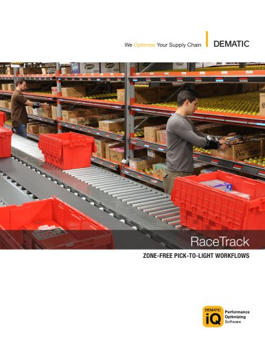 RaceTrack:ZONE-FREE PICK-TO-LIGHT WORKFLOWS