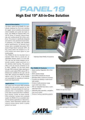 "Fanless 19"" Panel PC with SXGA resolution"