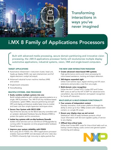 i.MX 8 Family of Applications Processors