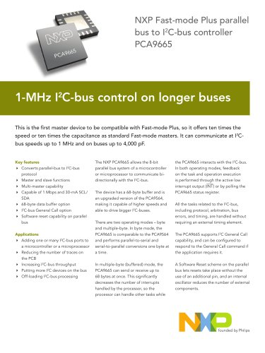 NXP Fast-mode Plus parallel bus to I2 C-bus controller PCA9665