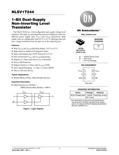 1 Bit Configurable Dual Supply Voltage Level Translator