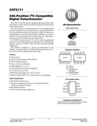 256-Position I2C Compatible Digital Potentiometer