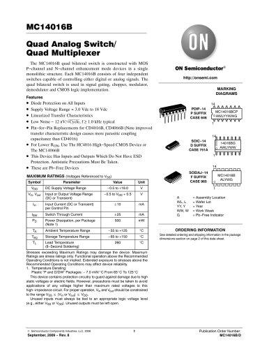 Quad Analog Switch/Quad Multiplexer
