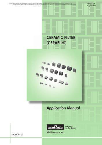 Ceramic Filters CERAFIL® Application Manual