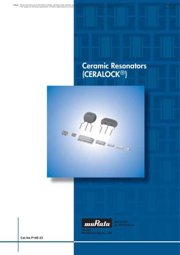 """Ceramic Resonators """"CERALOCK®"""""""