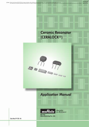 Ceramic Resonators CERALOCK®