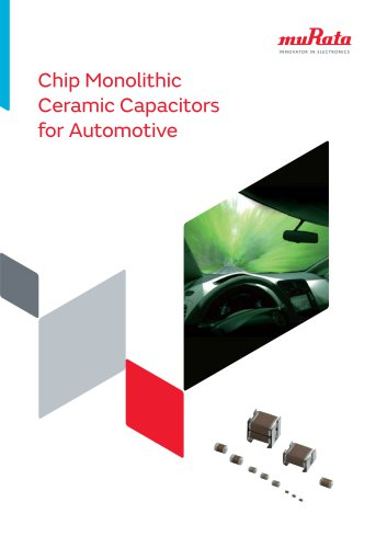 Chip Monolithic Ceramic Capacitors for Automotive