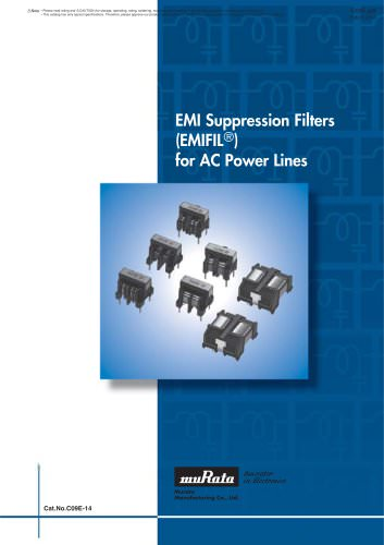 EMI Suppression Filters for AC