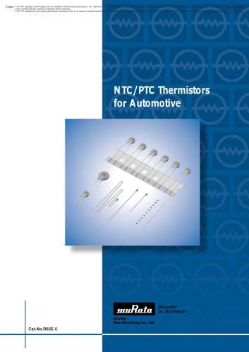 NTC/PTC Thermistors for Automotive