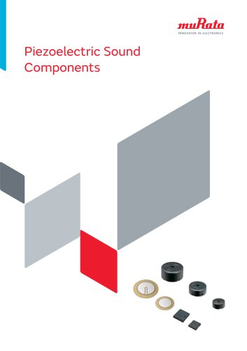 Piezoelectric Sound Components