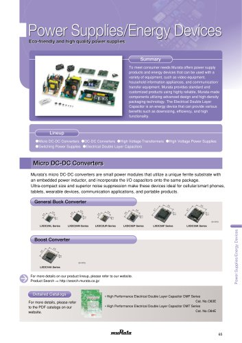 Power Supplies/Energy Devices