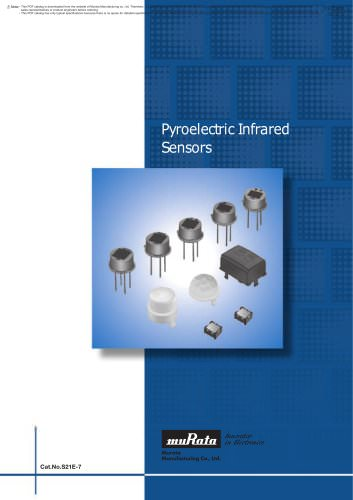 Pyroelectric Infrared Sensors