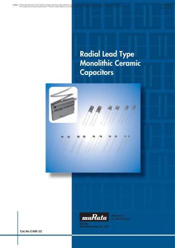 Radial Lead Type Monolithic Ceramic Capacitors