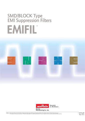 "SMD/BLOCK Type EMI Suppression Filters ""EMIFIL®"""