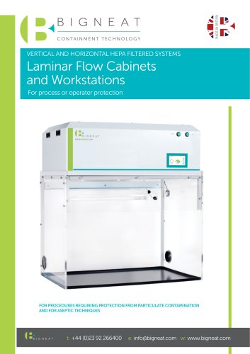 Laminar Flow Cabinets and Workstations