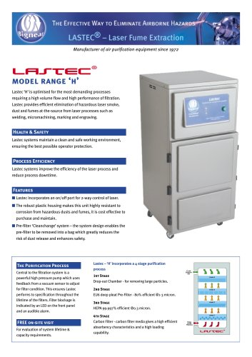 Laser Fume Extraction Systems - Lastec
