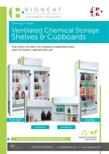 Ventilated Chemical Storage Shelves & Cupboards