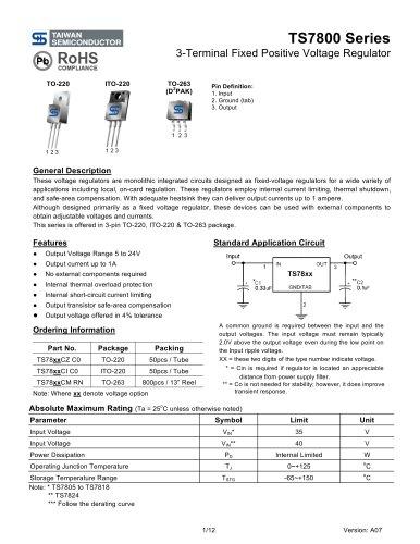 3-Terminal Fixed Positive Voltage Regulator