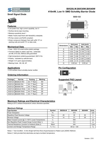 B0520LW Discrete Devices-Diode-Schottky Diode & Array