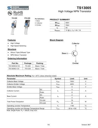 High Voltage NPN Transistor