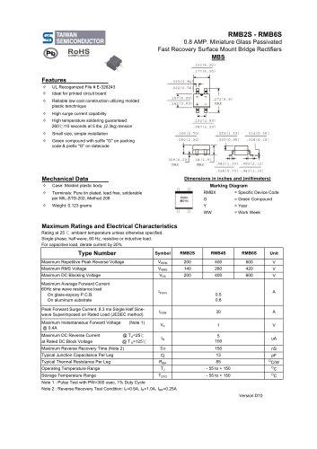 RMB2S Discrete Devices -Bridge Rectifier-Fast Recovery Bridge