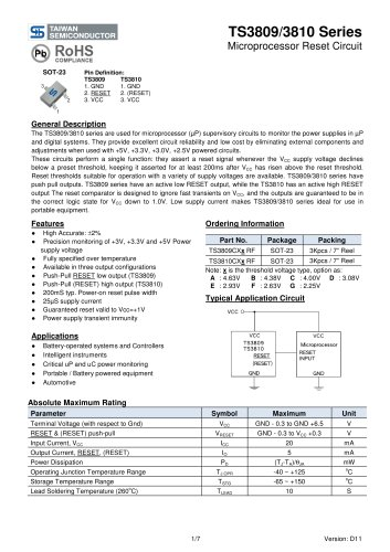 TS3809CXA Power Management Ics-Analog IC-Supervisor and Reset IC